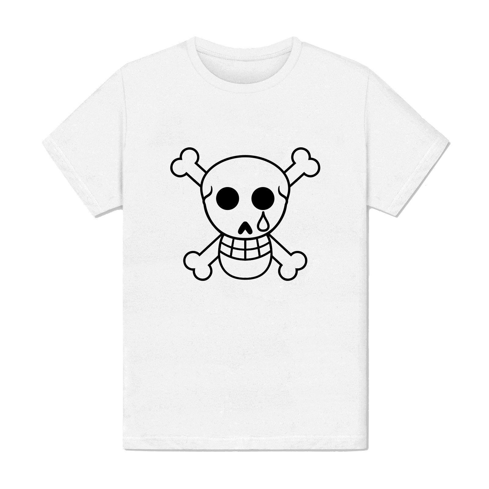 T-shirt Homme - Halloween tete de mort larmoyante - Triste pleure illustration