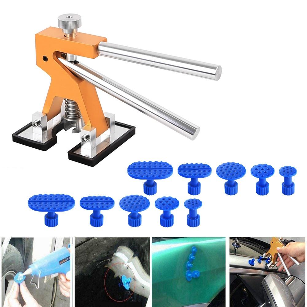 Outils PDR Débosselage sans peinture Outils Débosselage Dent Puller Tabs Dent Lifter Main Tool Set PDR Outil kit