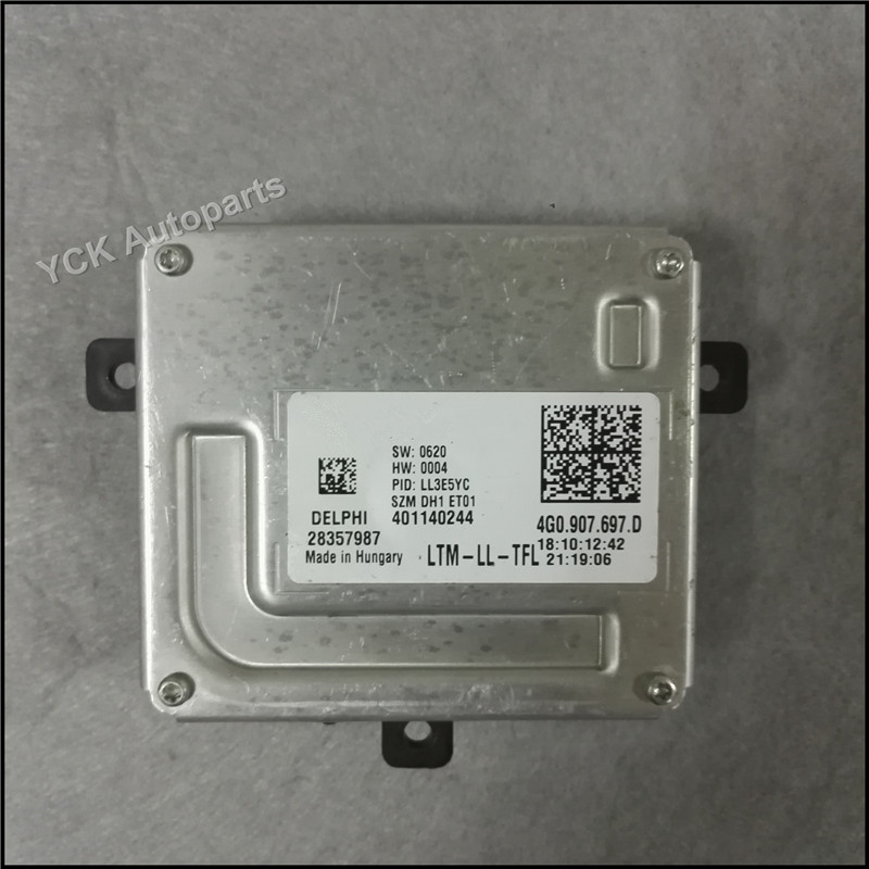 1PC YCK Original LED Driver  4G0.907.697.D 4G0907697D Headlight HID Ballast 401140244 (Genuine And Used)