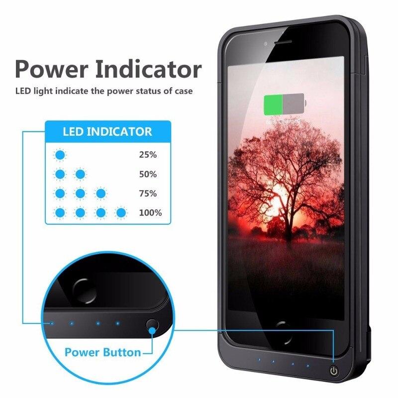 Funda de batería de 4200 mAh de gran capacidad para iPhone 5 5C 5S SE cargador rápido portátil de reserva externa