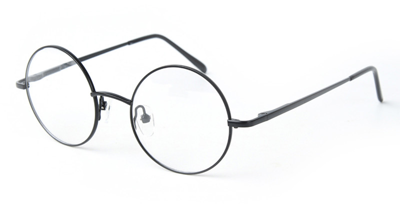 Lovely Vintage Round Silver 46mm Spring Hinges Harry Potter Metal Eyeglass Frames Full Rim Myopia Glasses 250-300 125-150 350-40