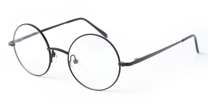 42mm Size  Retro Vintage Eyeglass Frame Glasses Round Eyeglass Frames Black Gold Silver Gun Grey Optical RX