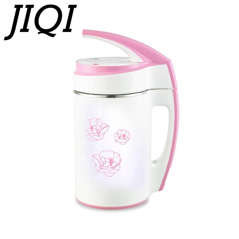 JIQI mini Soybean Milk machine 0.6-0.8L soy milk grinder soybeans milk maker Stainless Steel Milk shake juicer baby food blender fast food leisure fast food equipment stainless steel gas fryer 3l spanish churro maker machine