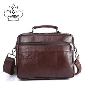 Image 3 - ZZNICK Men messenger bags luxury genuine leather men bag designer high quality shoulder bag casual zipper office bags for men