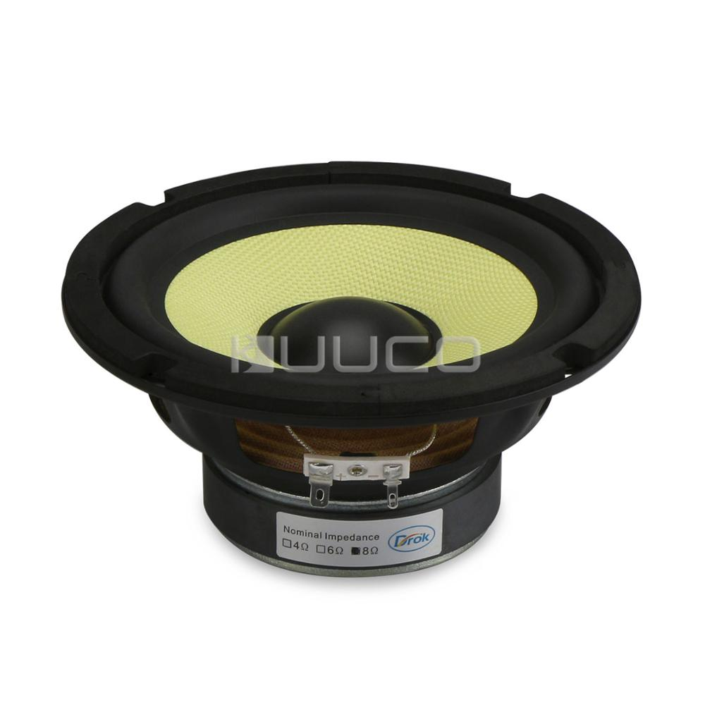35W Audio Speaker 6.5 inch HI-FI Stereo Woofer Loudspeaker 8 ohms Mid Bass Woofer Speaker for DIY Speakers audio loudspeaker 40w woofer speaker double magnetic speaker 4 5 inch 4 ohms subwoofer bass speaker for diy speakers
