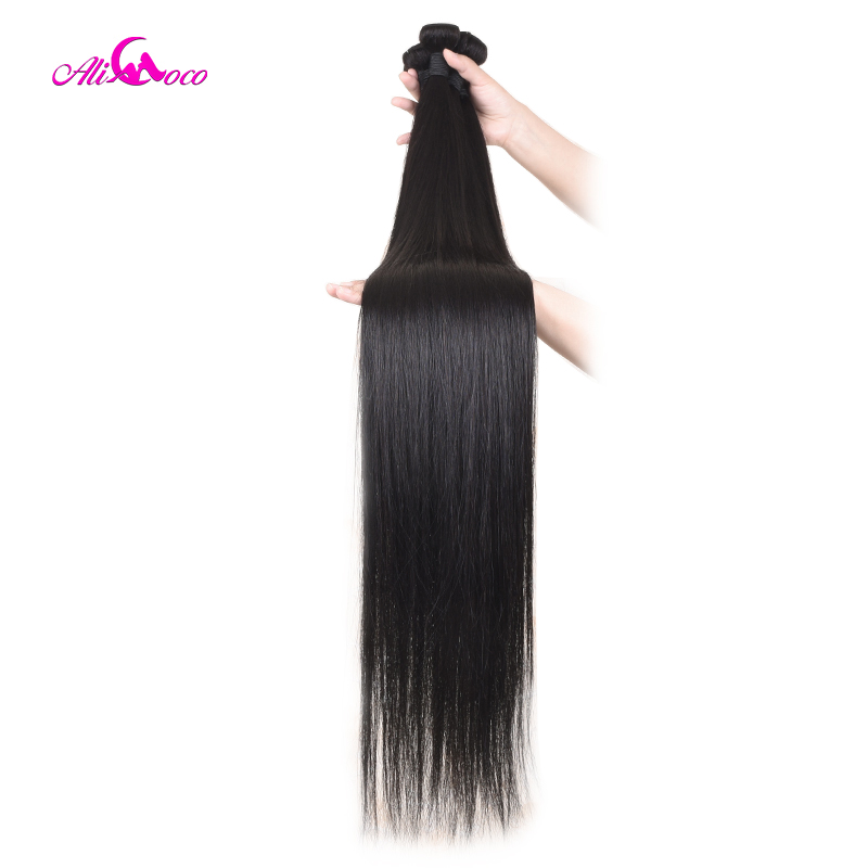 Ali Pearl Hair Long Length 28 30 32 34 36 38 40 Inches Brazilian Deep Wave Bundles 1 Piece Only Human Hair Remy Natural Color Hair Extensions & Wigs Human Hair Weaves