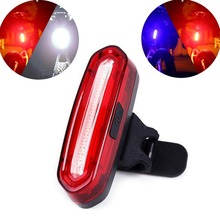 100 Lumens USB Rechargeable COB LED Bicycle Tail Light MTB Road Mountain Bike Taillight Cycling Rear