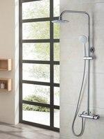 Shower Set Bathroom Good Quality Thermostatic 8 Inch Rainfall Shower Head 53953 Bath Tub Shower Water