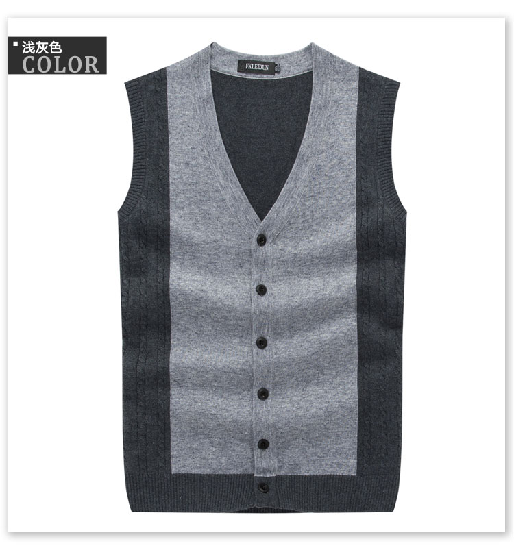 Discount High Quality Cashmere Wool Vest Men's Sleeveless Vest ...