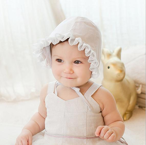 New Summer Style bear Toddler Kids Baby Girls Cotton Cap Elegant Lovely  Princess Lace Sun Hat 1 Pcs dd7d8a3f779