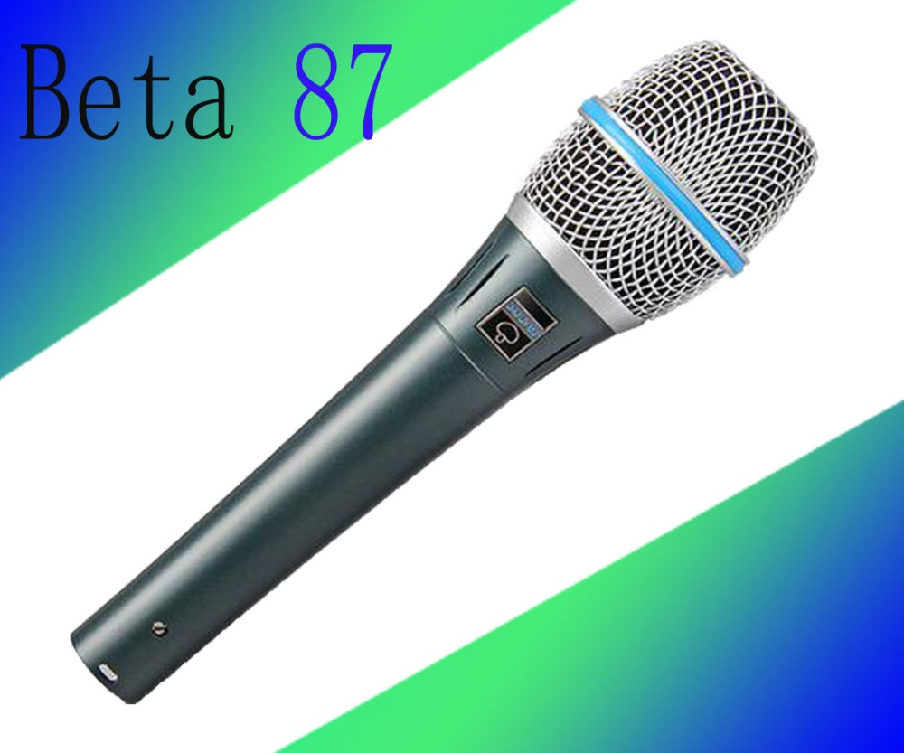 3pcs Free Shipping High Quality Dynamic Capsule BETA87A Beta 87A Supercardioid Vocal Microphone With Amazing Sound