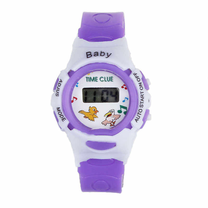 2019 New Fashion Colorful Boys Girls  Digital Wrist Watch Students Sport Time Electronic Clock Children Kids Watches Gifts A65