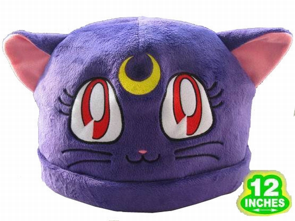 Sailor Moon Purple Cat Hat Plush white hat Birthday gifts