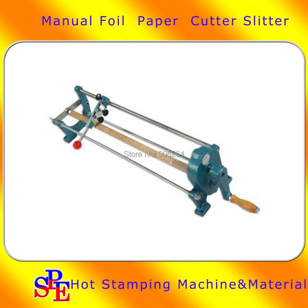 26 Foil Paper Cutter Slitter Hot Foil Stamping Roll Cutting Machine Core 0 9 Manual Cutting