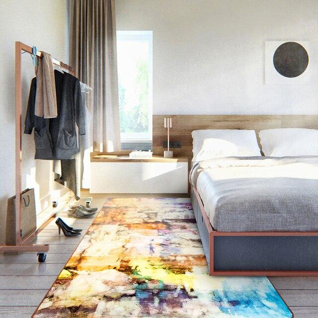 Wohnzimmer Carpet Abstrakte Kunst Malerei Design Schlafzimmer Teppiche Waschbar Rutschfeste