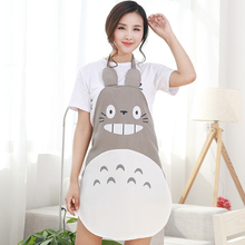 Cartoon Apron with Sleeves Set Waterproof Kitchen Soil Release Aprons home textiles women bibs Accessories x