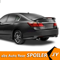 For HONDA Accord Spoiler 2012 2014 Accord spoiler High Quality ABS Material Car Rear Wing Primer Color Rear Spoiler
