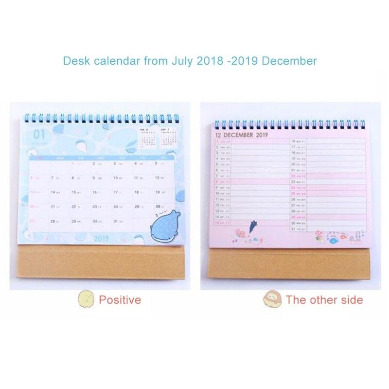 Kicute 2018 Jahr Schwarz Weiß Stil Luminous Kalender Schreibtisch Stehenden Papier Multifunktions Organizer Schedule Planer Memo Kalender Kalender, Planer Und Karten Office & School Supplies