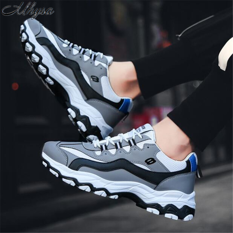 Mhysa 2019 Sneakers New Fashion Color Matching Mesh Breathable Increase Men's Shoes Comfortable Outdoor Men's Casual Shoes L179