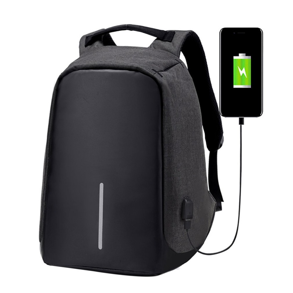 2017 Waterproof Nylon Backpack Anti-theft Laptop Bags Travel School Bags Anti-theft With USB Port For Charging For Boy Teenager