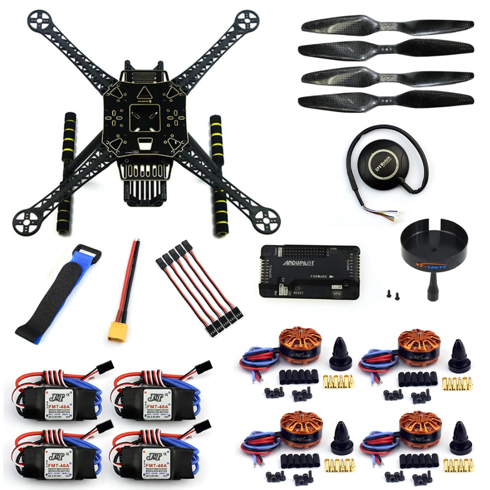 F19457-F DIY 4-Axle RC FPV Drone S600 Frame Kit with APM 2.8 Flight Control 40A ESC 700KV Motor GPS7M XT60 Plug Accessories f04305 sim900 gprs gsm development board kit quad band module for diy rc quadcopter drone fpv