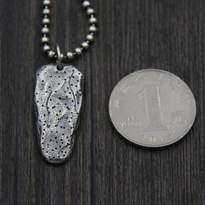 JINSE Punk Rock Pendant S925 Sterling Silver Weapon Accessories Silver Dagger Necklace Hippie Men Jewelry 35 19MM 10 50G in Pendants from Jewelry Accessories