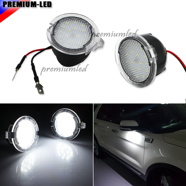 X For Ford Led Side Mirror Puddle Light F  Under Mirror Light For Edge