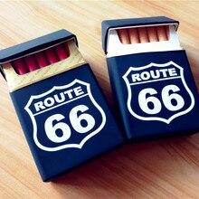 U.S. Route 66 Модный мягкий резиновый чехол для сигарет, чехол для курения женщин и мужчин, портативный чехол для сигарет, чехол для сигарет