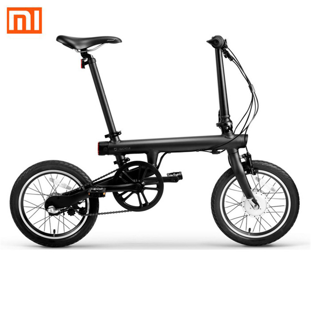 все цены на Original Xiaomi QiCYCLE-EF1 Smart Foldable Electric Bike Bicycle Bluetooth 4.0 Bicycle Aluminum Alloy Support for APP онлайн