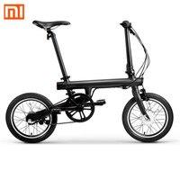 100% оригинал Xiaomi QiCYCLE-EF1 Smart складываемый Электрический велосипед Велосипед Bluetooth 4,0 Поддержка Велосипедный спорт для APP Бесплатная доставка Н...