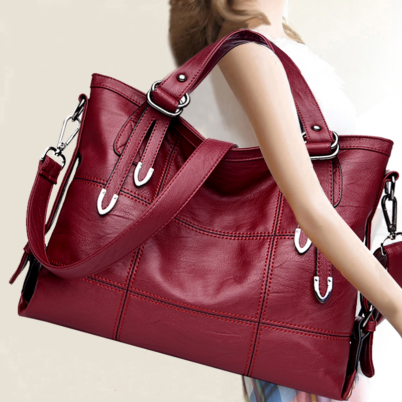 New Arrival New Arrival Women Large Capcity Handbag Lady Tote Female Solid Color Fashion Vintage Style New Trendy Bag EGT0125 new arrival crocodilian veins embellished handbag slanting bag for female
