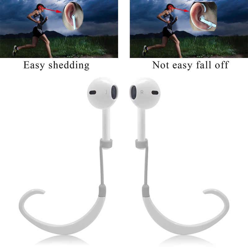 抗ロスト耳フック安全なフィットフックため Airpods Apple ワイヤレスイヤホンアクセサリー保護シリコーンスポーツ Earhooks ホルダー