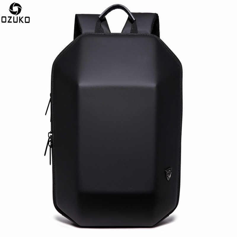 15.6inch Men Fashion Hard Shell Waterproof Laptop Backpack Mochila with Lock