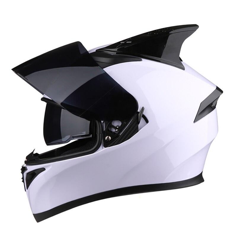 New Motorcycle Helmet Flip Up Motocross Helmets With Inner Sun Visor Modular Moto Full Face Helmets