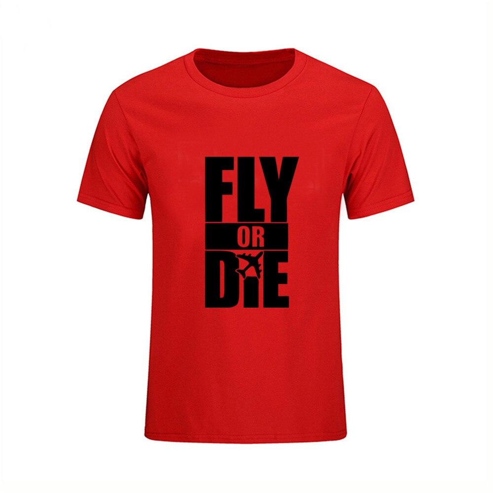 a39a4b9bca US $5.58 48% OFF Men's Round Collar Fly Or Die Airplane Custom Family T  Shirts Short T Shirt Youth Funny Tee tShirts feyenoord redmond moana trd-in  ...