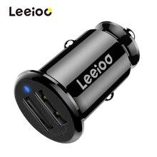 LEEIOO автомобильное зарядное устройство универсальное 2 порта USB Автомобильное зарядное устройство для iphone samsung Xiaomi автомобильное зарядное устройство для мобильного телефона