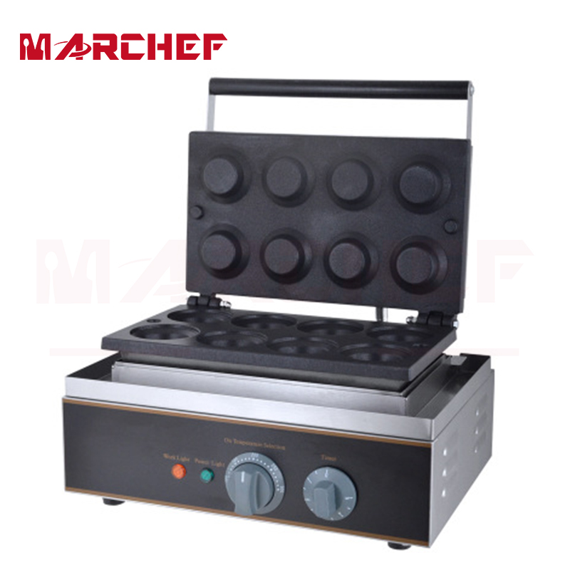 8Pcs Commercial Stainless Steel Egg Tart Shell Biscuit Waffle Making Machine delicious snacks equipment automatic egg tart skin forming machine egg tart skin machine