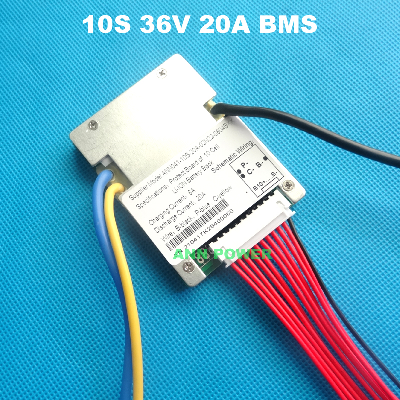 10 S 36 V (42 V) 20A lithium ion battery BMS For 36 V 10Ah E-bike