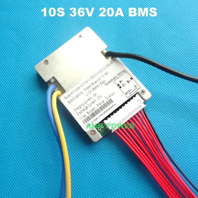 10S 36V (42V) 20A lithium ion battery BMS For 36V 10Ah E bike li ion ...