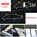 TOMMIA полнооконный средний столб формовочный порог хромированная Накладка для стайлинга полосок из нержавеющей стали для BMW X4