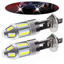 1pair H1 LED Car Fog Lamp High Power 150W 3030 Chips 6500K White Waterproof Auto Front Headlamp Driving Lights DC 12V 24V