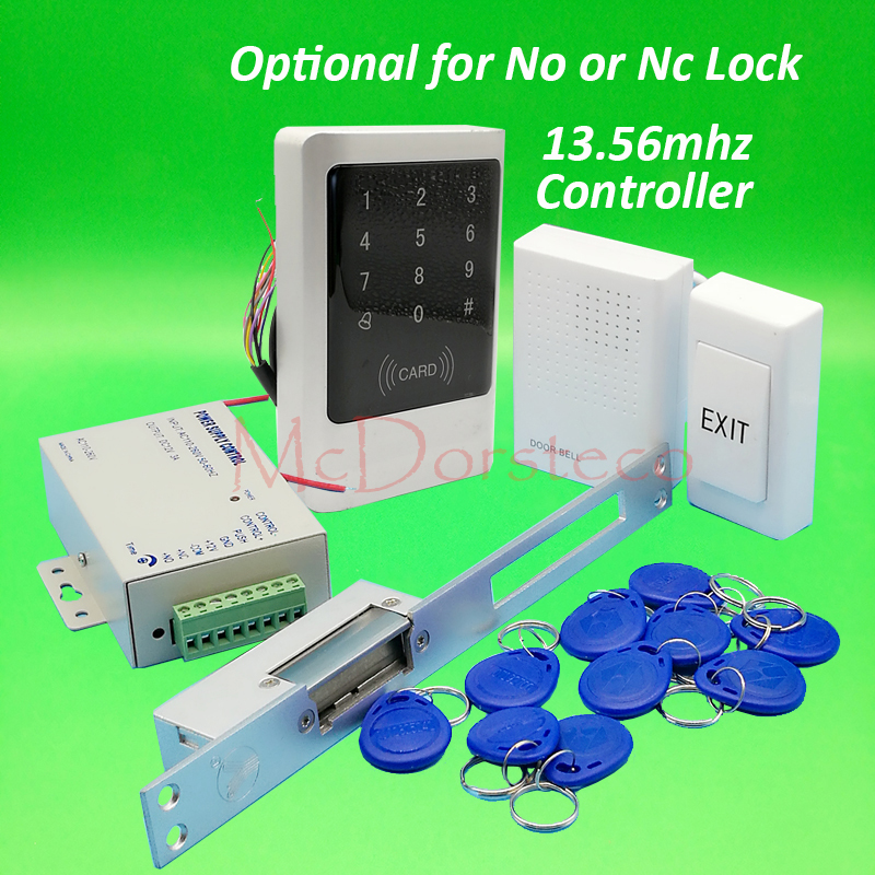 Touch Keypad Metal Waterproof door Access Control Full 13.56mhz IC Door Lock control system Kit Yli long type No Nc Strike Lock mattel книжка стишки для малышей fisher price