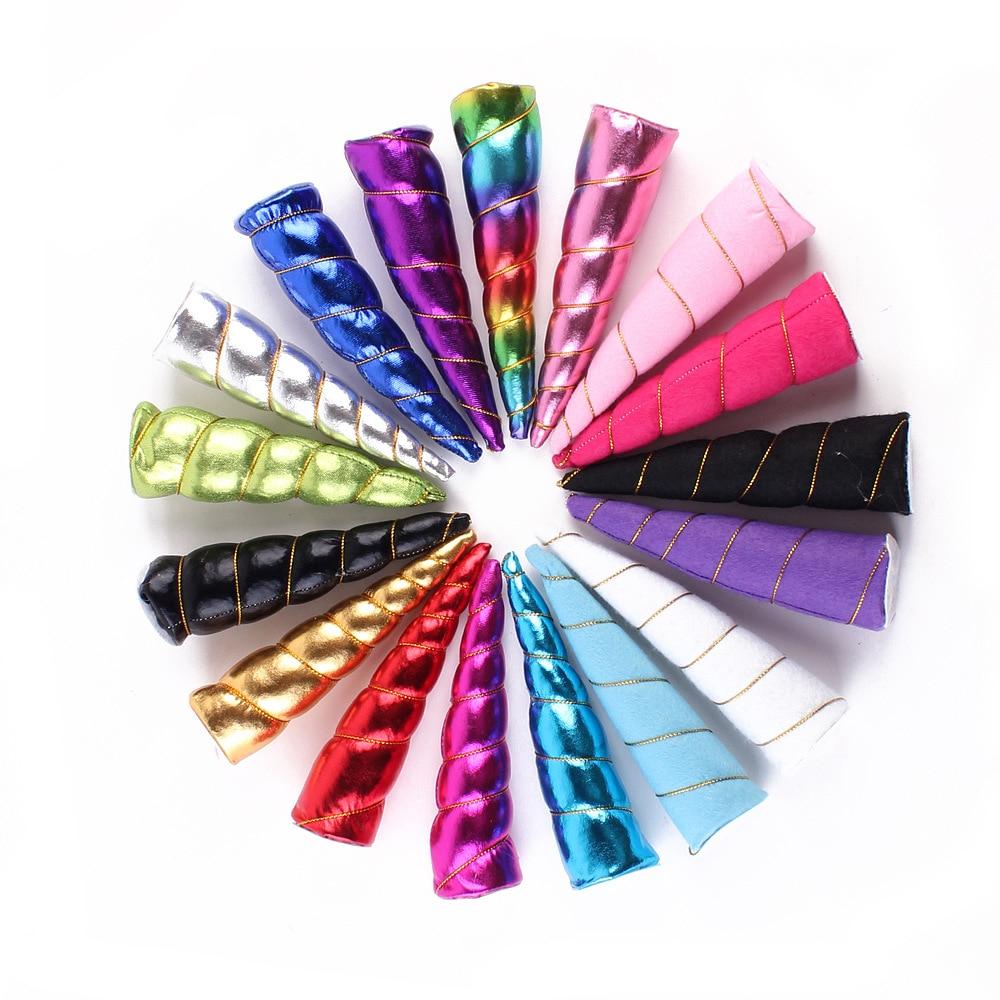10PCS /lot latest Unicorn Horns For Girls And Kids headband, Felt Padded Glitter Unicorn Hair Accessories DIY party Unicorn