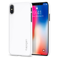 100 Original SPIGEN Thin Fit Hard Back Cover Case For IPhone X