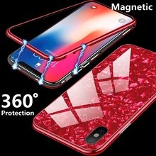 360 Magnetic Glass Cases for iphone XS Max iphone 8 7 Plus 8plus 7plus Shell Cover Coque for iphone XR 6 s 6S iphone X 10 Case cheap iPhone 6 Plus IPHONE 6S iPhone 7 iPhone 7 Plus iPhone 6s plus IPHONE 8 PLUS Fitted Case Dirt-resistant Anti-knock phone cases for iphone 6 6s 7 8 Plus iphone X 10