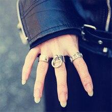 Fashion circle ring  Minimalism wind Rings of metal fan delicate woman man