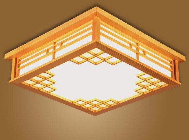 Slaapkamer Lamp Plafond : Japanse plafondverlichting vierkante 45 55 cm slaapkamer led lampen