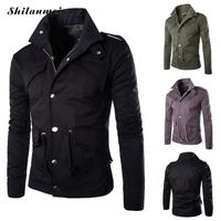 Plus Size 4XL Military Army Soldier Jacket Spring Autumn Tactical Men Jacket Coat String On Waist