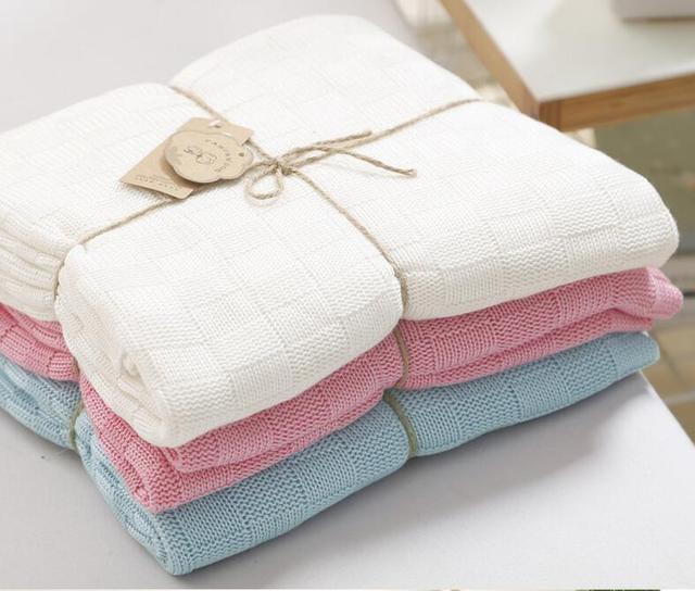 110*120cm  100% cotton Bamboo Baby Knitted Blankets  Newborn photography props, photographic background