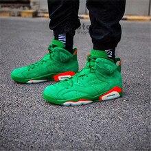 e442105d017 Original New Arrival Authentic Jordan 6 Gatorade AJ6 Gatorade Green Suede  Men's Basketball Shoes Outdoor Sneakers